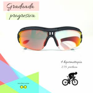 La mejor manera de graduar una gafa de ciclismo o BTT