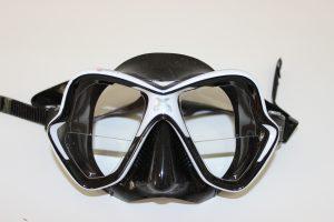 máscara de buceo graduada
