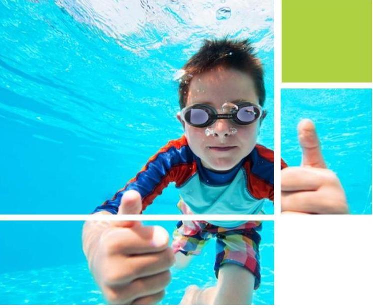 gafa de nadar graduada para niños