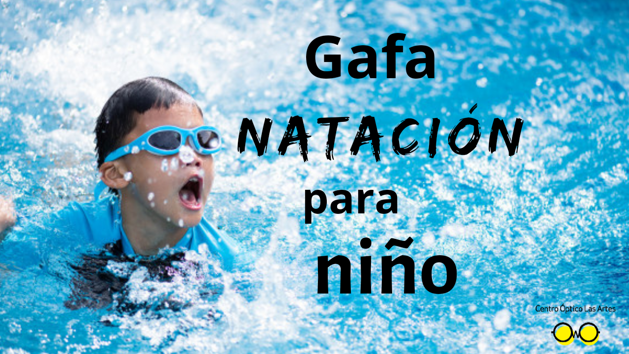 Gafas de nadar graduadas para niño