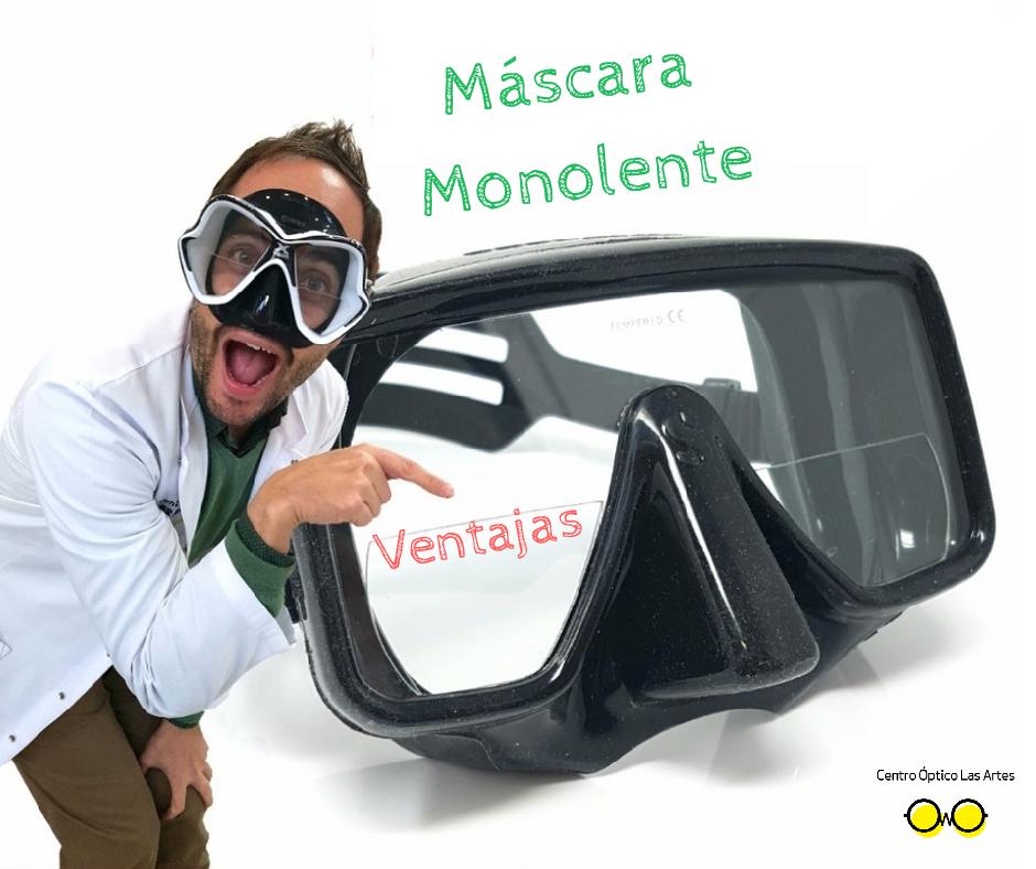 Máscara de buceo monolente  Ventajas y maneras de graduarlas