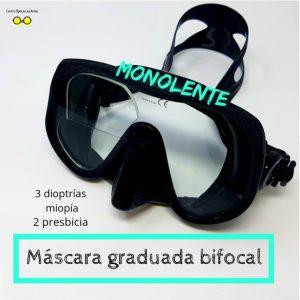Máscara de buceo monolente Castellón