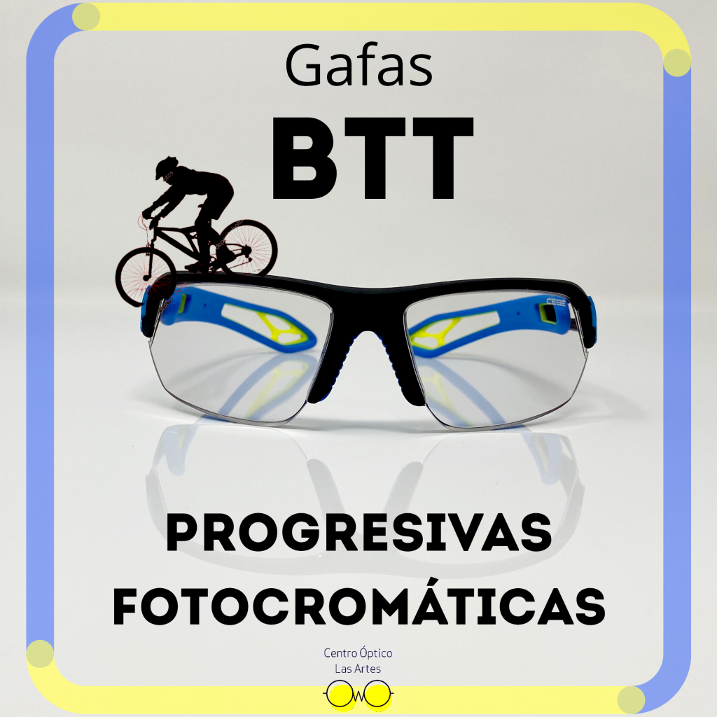 gafas de ciclismo graduadas con lente fotocromatica y progresiva