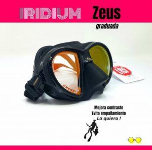 Máscara Cressi Zeus Iridium graduada