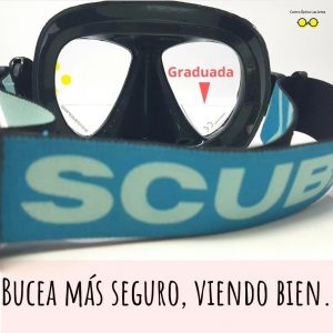 máscara buceo graduada Scuba
