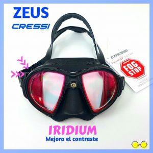 mascara cressi Zeus iridium graduada
