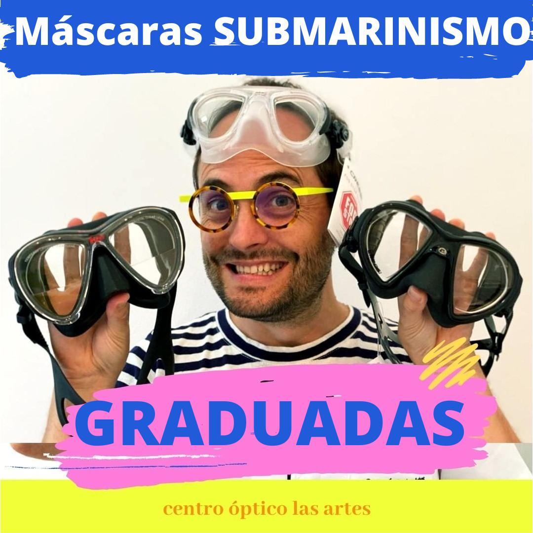 Máscaras de submarinismo graduadas en centro óptico LAS ARTES